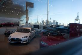 tesla inside engine inside tesla u0027s new red hook nyc showroom business insider