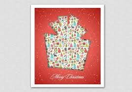 christmas tree and presents vector pattern pack download free