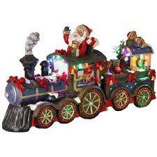fibre optic santa train christmas decoration polyvore