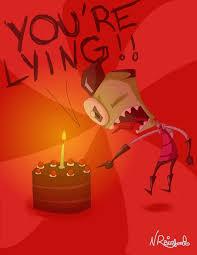 Cake Is A Lie Meme - zim s cake is a lie by nikrain on deviantart
