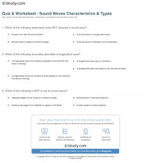 quiz u0026 worksheet sound waves characteristics u0026 types study com