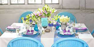 table decorations blue table decorations make your dining table shine this