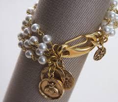 gold bracelet with pearl charm images Pearl charm bracelet grace kelly bracelet rear window jpg