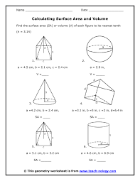 ideas collection geometry volume worksheets with format layout