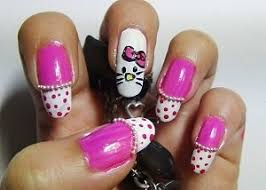 the steps to painting hello kitty nails quora