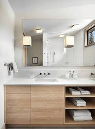 Bathroom  Vanity Light With Wall Mirror Also Undermount Sink - Bathroom vanity light size