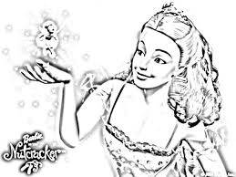 barbie thumbelina coloring pages barbie nutcracker coloring pages