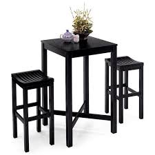 Black Bar Table Bar Table With Veneer Top Black Walmart