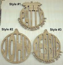 personalized laser cut wood ornaments