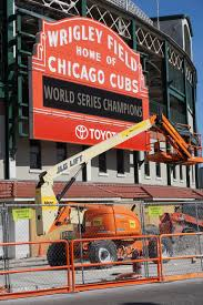 wrigley field renovations bleed cubbie blue wrigley field construction update march 11
