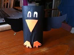 elijah and the ravens raven craft toilet roll foam black