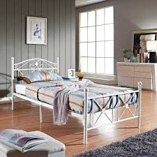 Iron Frame Beds by Bed Frame Bed Frames Luna Metal Platform Frame With Wood Slats
