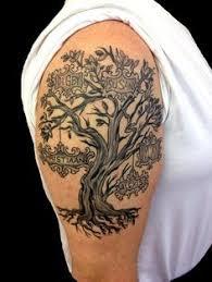 tribal tree on shoulder family tree on shoulder