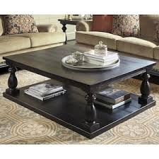 nebraska furniture coffee tables mallacar rectangular cocktail table in black nebraska furniture mart