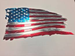 tattered flag us flag metal 6 sizes available home