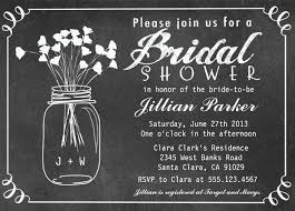 jar bridal shower invitations chalkboard jar bridal shower invitation and modern