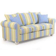 Yellow Sleeper Sofa Coastal Cottage Striped Sleeper Sofa Leaders Casual Furniture