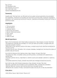 exle of resume title exle for resume title exles of resumes