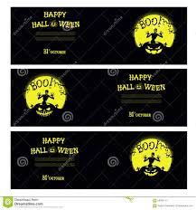 Happy Halloween Banners by Vector Halloween Banners With Zombie Pumpkin Scary Trees Graves