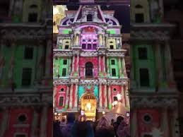 philadelphia light show 2017 philadelphia city hall light show 2017 youtube