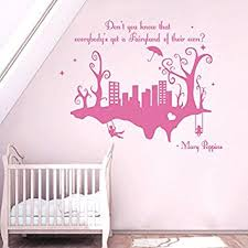 amazon com wall decals quotes mary poppins don u0027t you know that