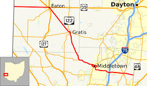 Dayton Map Ohio State Route 122 Wikipedia