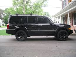 my 08 commander on black gc srt8 wheels jeep commander forums