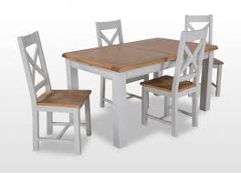 country style grey small extending oak dining table harmony