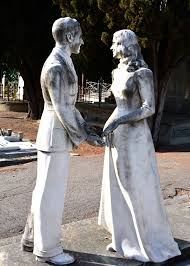 cemetery statues creepy gravestones in the church of san miniato s cemetery in