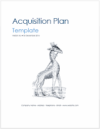 acquisition plan template acquisition plan template technical writing tips