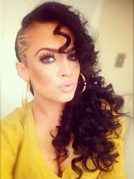 curly shaved side hair 23 most badass shaved hairstyles for women page 2 of 2 stayglam