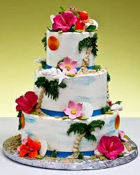 tropical wedding cake ideas for a summer wedding