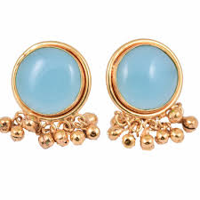 bluestone earrings blue ghungroo earrings mrinalinichandra