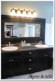 How To Frame Bathroom Mirror How To Frame Out That Builder Basic Bathroom Mirror For 20 Or
