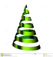 green christmas tree from ribbon royalty free stock photos image