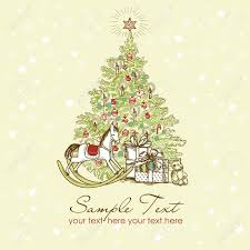 christmas tree illustration christmas lights decoration