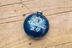 baby u0027s first christmas ornament u2022 katie crafts