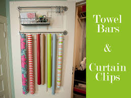 hanging gift wrap organizer how to organize gift wrap