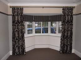 Curtains For Bay Window Fetching How To Dress Bay Window Then Furniture Window Curtains