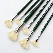 fan brush oil painting sale high grade paint brushes bristle fan oil painting brush set