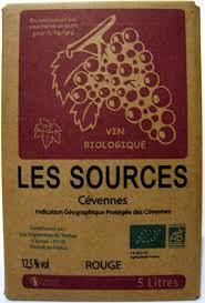 Conservation Vin Rouge Vin Rouge Biologique Igp Des Cévennes Fontaine De 5 L Les Sources