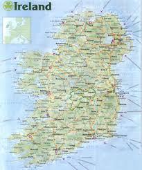 Ireland On Map Map Of Ireland Chestnut Cottage
