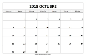 imagenes calendario octubre 2015 para imprimir para imprimir calendario octubre 2018 calendario 2018 pinterest