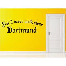 r56 dortmund wandtattoo you ll never walk alone stadt