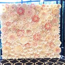 wedding backdrop on stage 2017 set large simulation cardboard paper mix styles flowers