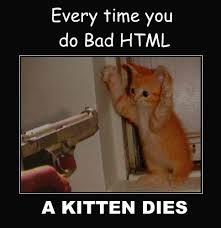 Meme Html - bad html web design taboos