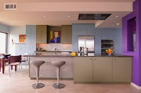 high rise kitchen table vortex doors for a contemporary kitchen with a bar counter and high