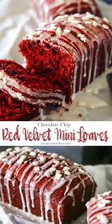 chocolate chip red velvet mini loaves are a delightful homemade