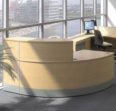 Reception Desks Uk by Curved Reception Desk Reception Desk With Wooden Finish Curved