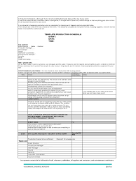 Production Schedule Template Excel Free Production Timeline Template 2 Free Templates In Pdf Word